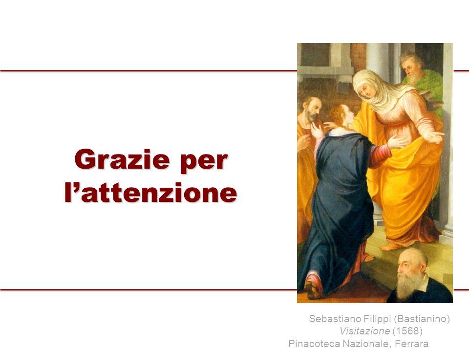 Grazie per lattenzione Sebastiano Filippi (Bastianino) Visitazione (1568) Pinacoteca Nazionale, Ferrara
