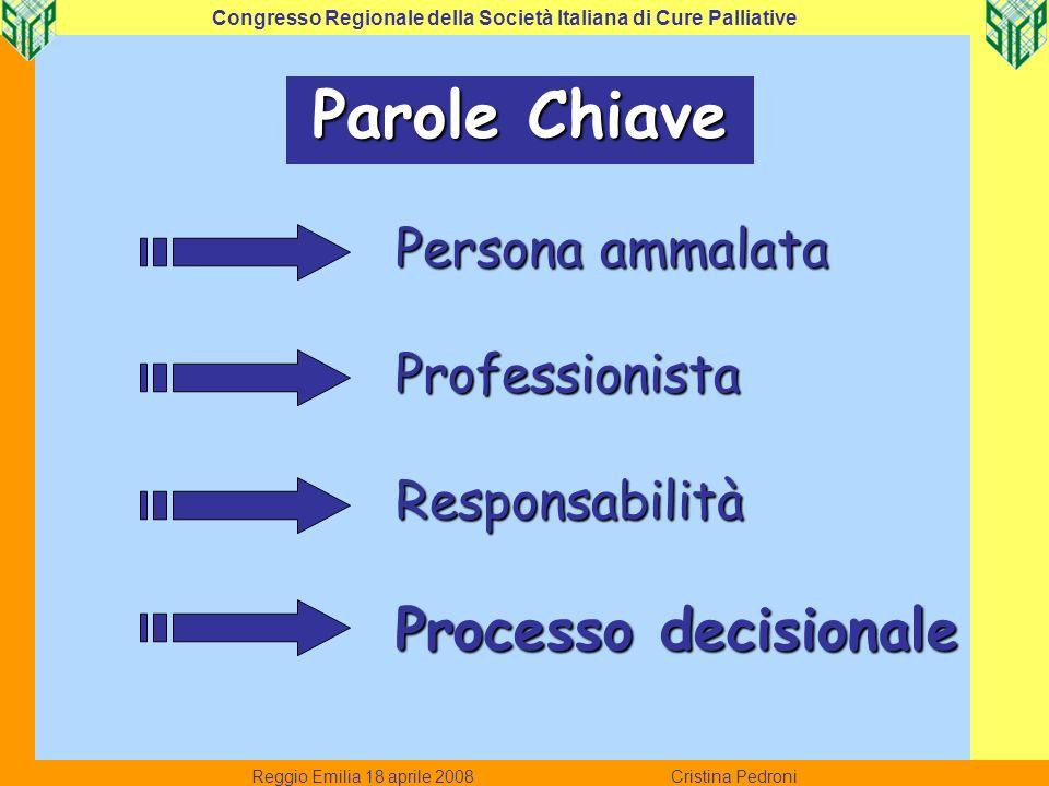 1.conoscenza della persona e del percorso di cura.