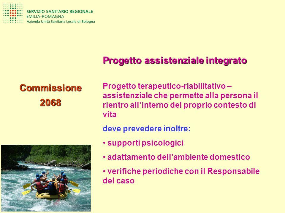 Commissione2068 Progetto assistenziale integrato Progetto terapeutico-riabilitativo – assistenziale che permette alla persona il rientro allinterno de