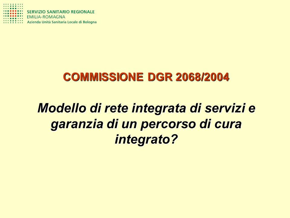 COMMISSIONE DGR 2068/2004 Modello di rete integrata di servizi e garanzia di un percorso di cura integrato?