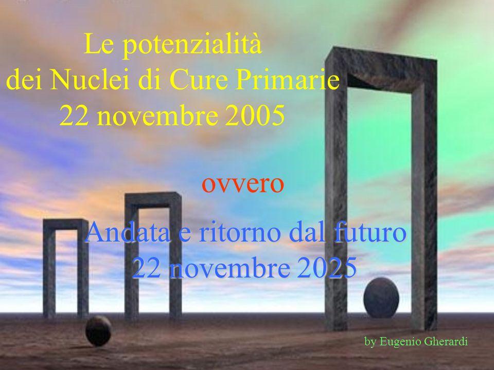 Le potenzialità dei Nuclei di Cure Primarie 22 novembre 2005 ovvero Andata e ritorno dal futuro 22 novembre 2025 by Eugenio Gherardi