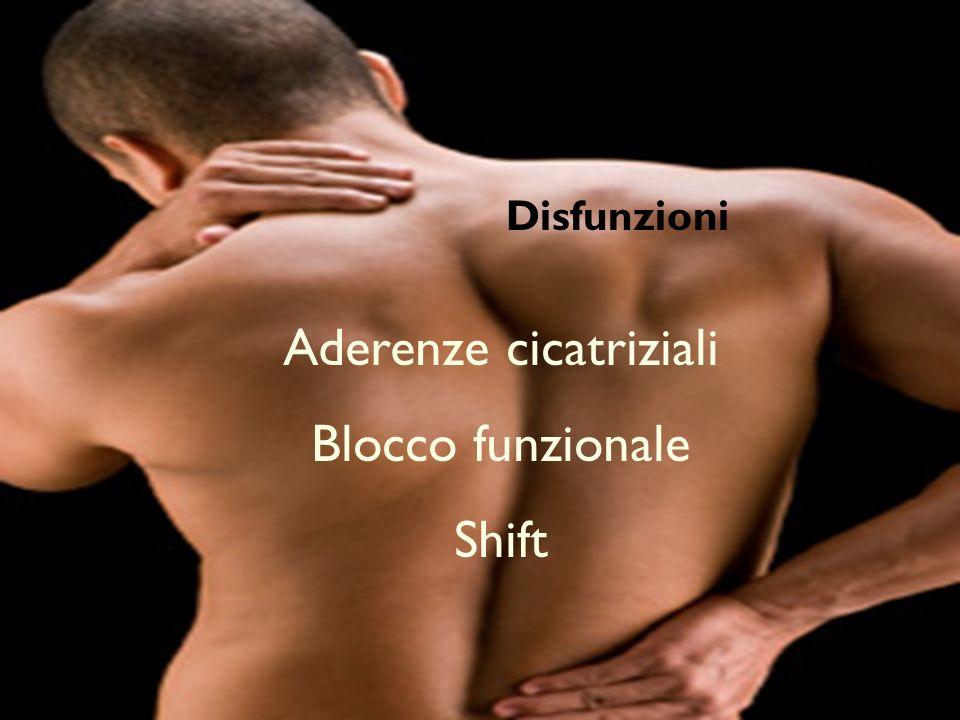 Problemi Disfunzionale (shift, blocco funzionale, aderenze cicatriziali). Aderenze cicatriziali Blocco funzionale Shift Disfunzioni