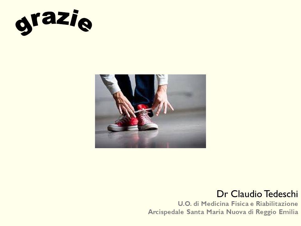 Dr Claudio Tedeschi U.O. di Medicina Fisica e Riabilitazione Arcispedale Santa Maria Nuova di Reggio Emilia