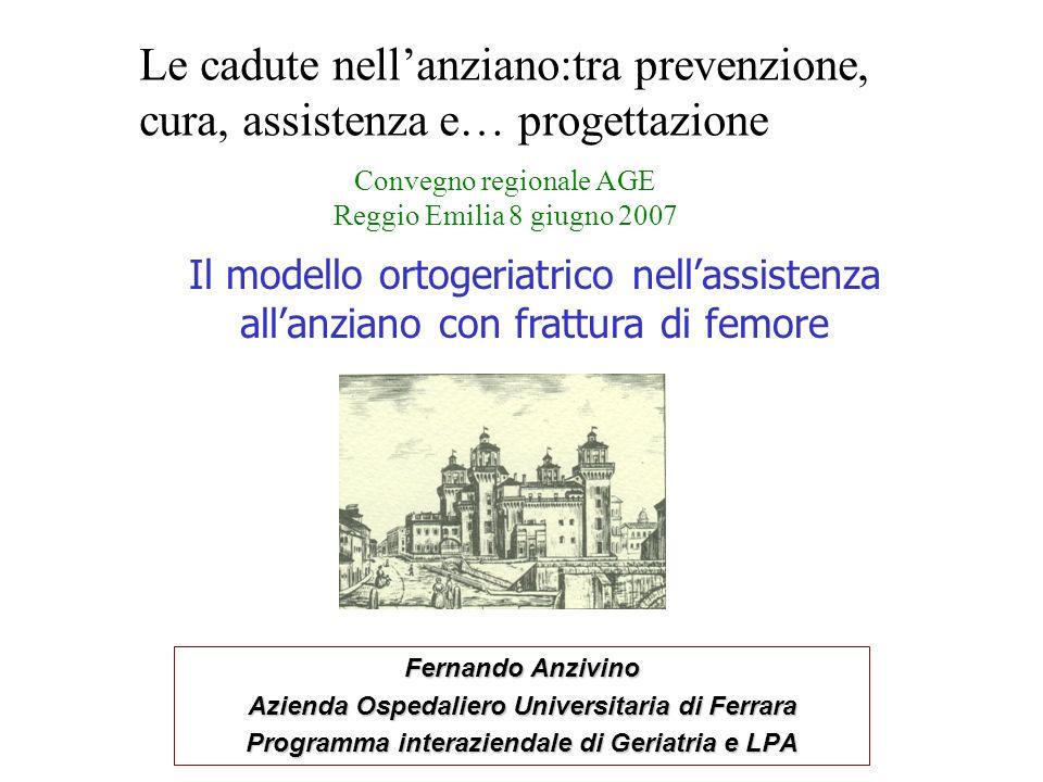 2 Ortogeriatria Ferrara (1) ATTIVITÀ INIZIATA IN MARZO 2001: CONSULENZA CONTINUATIVA IN U.O.