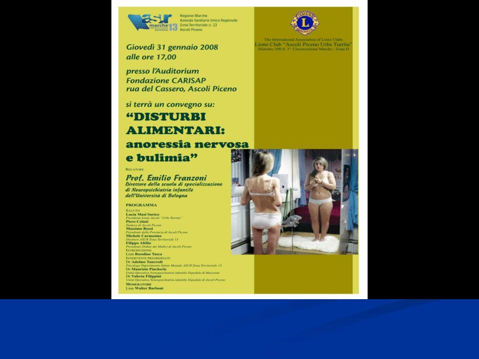 Disturbi del Comportamento Alimentare.Anoressia nervosa e Bulimia Emilio Franzoni U.O.