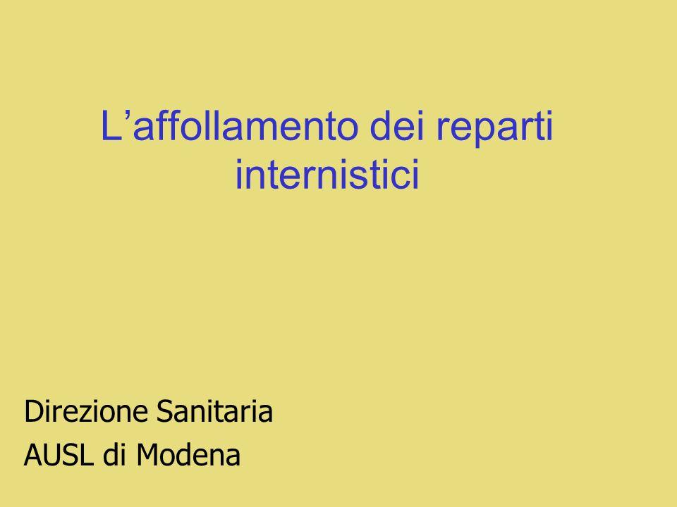 Laffollamento dei reparti internistici Direzione Sanitaria AUSL di Modena