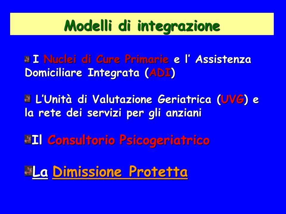Modelli di integrazione I Nuclei di Cure Primarie e l Assistenza Domiciliare Integrata (ADI) I Nuclei di Cure Primarie e l Assistenza Domiciliare Inte