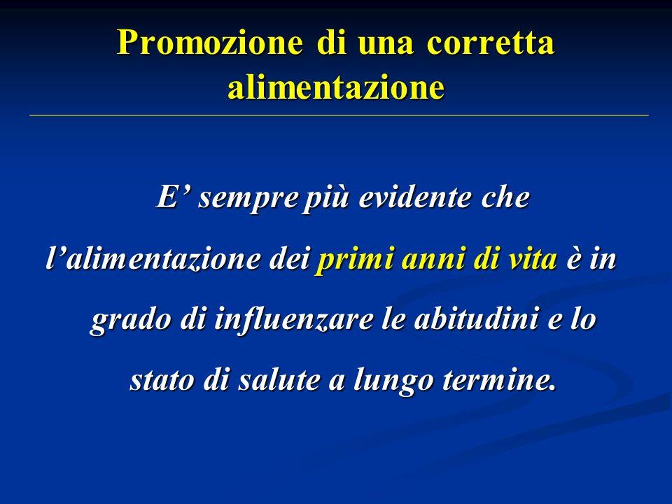 Promozione di una corretta alimentazione (2) Segni dallarme allanamnesi alimentare: Non consumare più i pasti insieme agli altri componenti della famiglia.