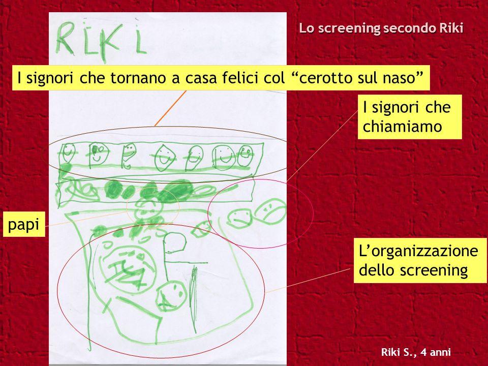 Lo screening secondo Riki I signori che chiamiamo Lorganizzazione dello screening papi I signori che tornano a casa felici col cerotto sul naso Riki S