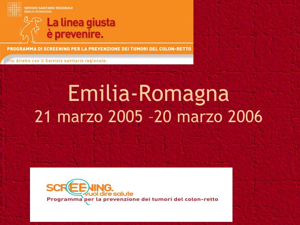 Emilia-Romagna 21 marzo 2005 –20 marzo 2006