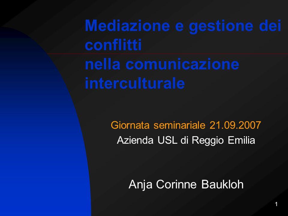 22 Attori della mediazione dei conflitti Il mediatore dei conflitti sociali e interculturali come nuova figura professionale La mediazione dei conflitti come competenza da diffondere nella società