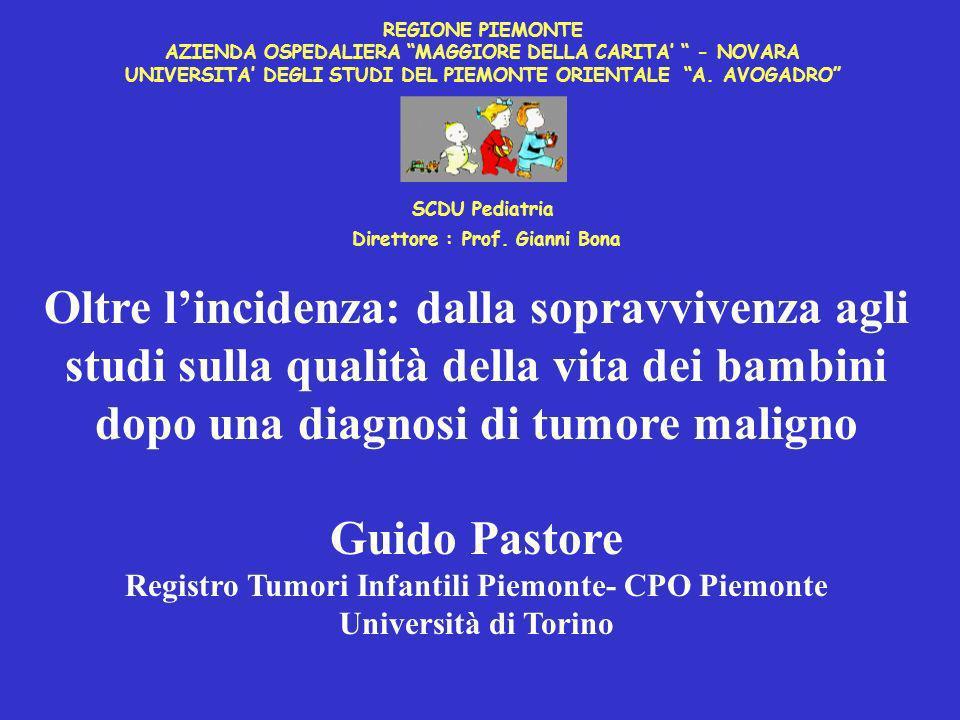 Registro Tumori Infantili del Piemonte.