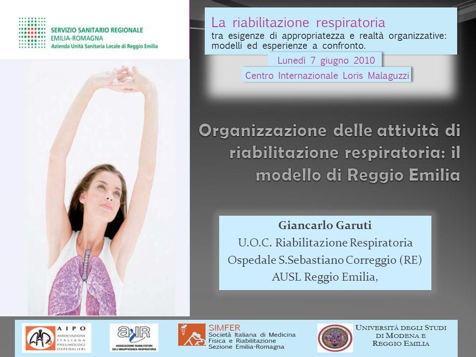 Giancarlo Garuti U.O.C. Riabilitazione Respiratoria Ospedale S.Sebastiano Correggio (RE) AUSL Reggio Emilia,