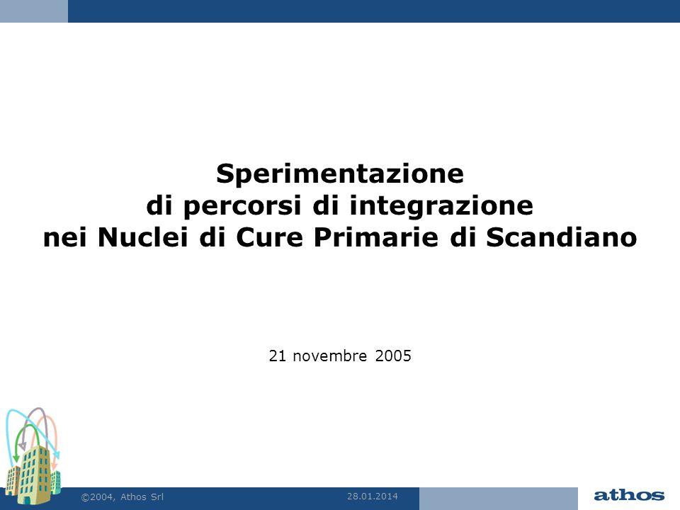 28.01.2014 ©2004, Athos Srl Sperimentazione di percorsi di integrazione nei Nuclei di Cure Primarie di Scandiano 21 novembre 2005