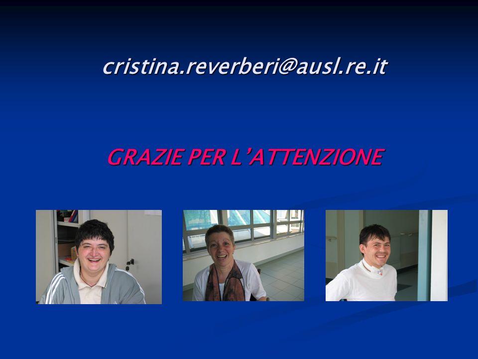 cristina.reverberi@ausl.re.it GRAZIE PER LATTENZIONE