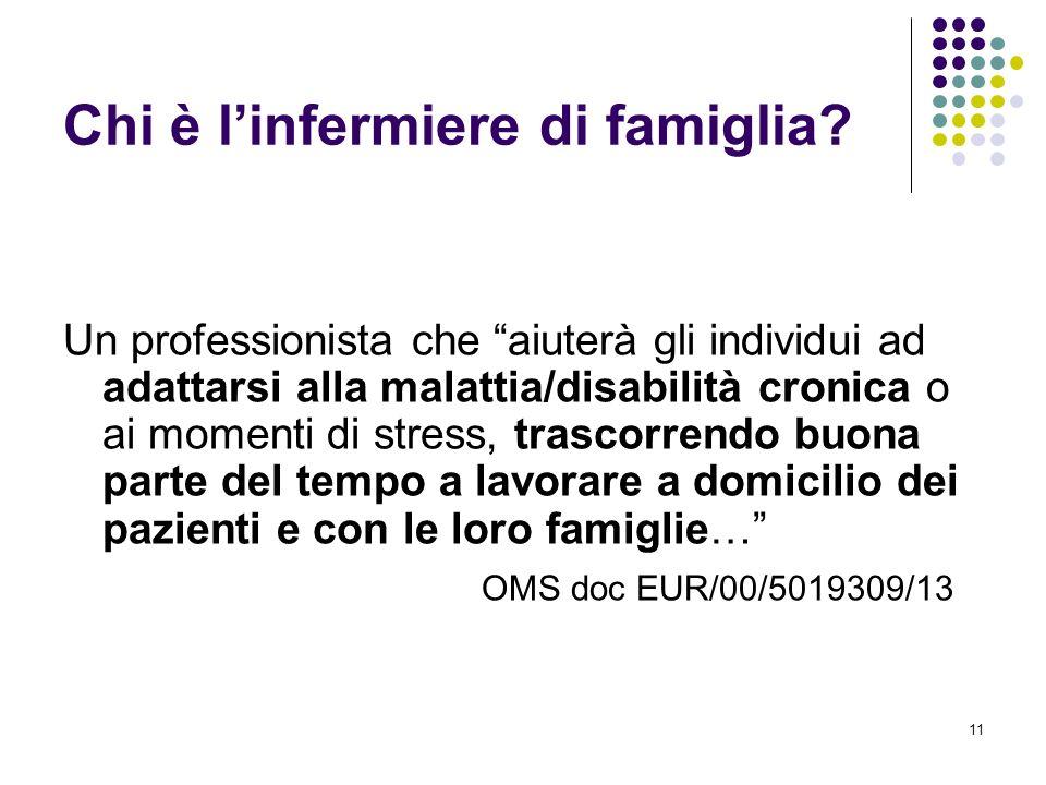 11 Chi è linfermiere di famiglia? Un professionista che aiuterà gli individui ad adattarsi alla malattia/disabilità cronica o ai momenti di stress, tr