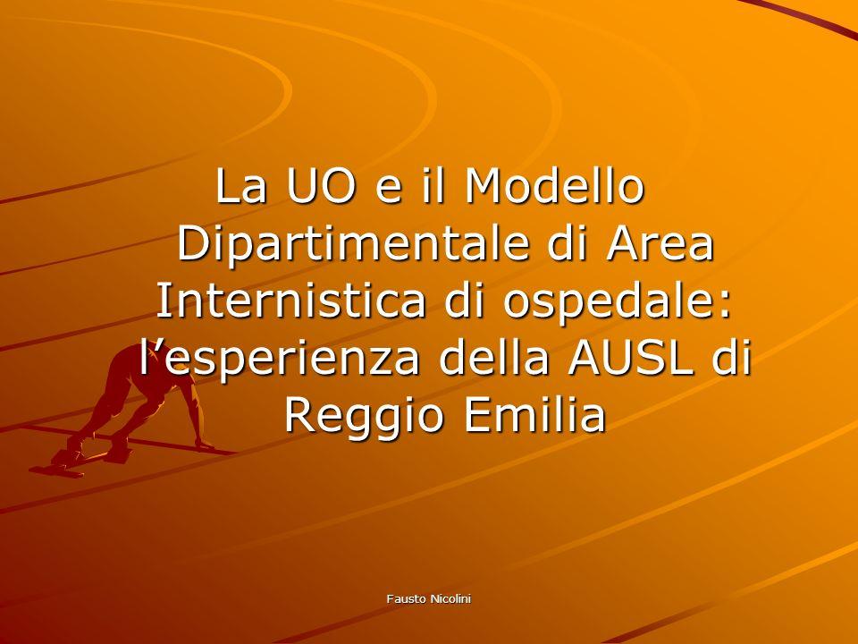Fausto Nicolini La UO e il Modello Dipartimentale di Area Internistica di ospedale: lesperienza della AUSL di Reggio Emilia