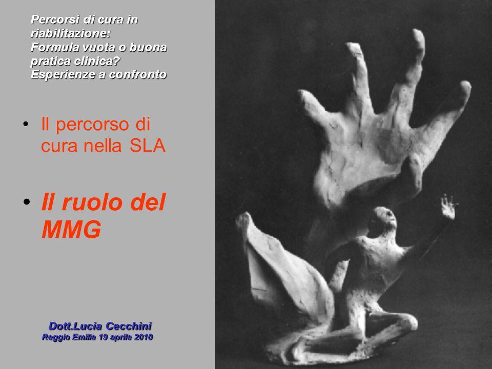 Il percorso di cura nella SLA Il ruolo del MMG Dott.Lucia Cecchini Dott.Lucia Cecchini Reggio Emilia 19 aprile 2010 Percorsi di cura in riabilitazione