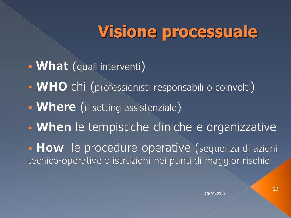 28/01/2014 22 Visione processuale