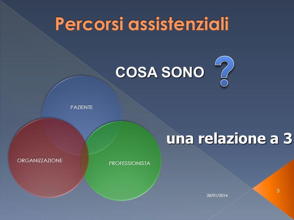 28/01/2014 3 una relazione a 3 PAZIENTE PROFESSIONISTAORGANIZZAZIONE COSA SONO