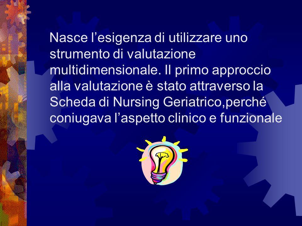 Struttura della Scheda di Nursing Geriatrico Nursing Tutelare, questa sezione include gli interventi di tipo sostitutivo svolti quando lutente non è in grado di compiere in modo autonomo le azioni di vita quotidiana.