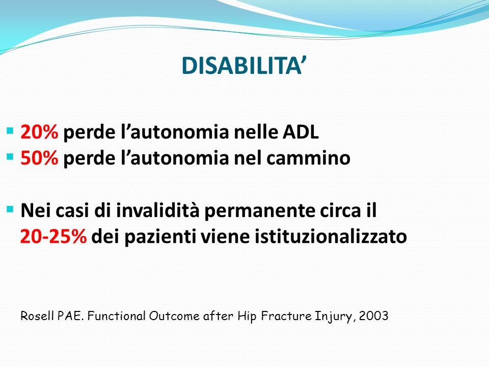Costi Diretti = Ospedalizzazione 568 milioni di euro/anno = costo giornaliero di ospedalizzazione, spese presidi e diagnostici, costo del personale, costo sala operatoria, materiali ecc.