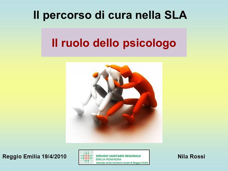 Il percorso di cura nella SLA Il ruolo dello psicologo Reggio Emilia 19/4/2010Nila Rossi
