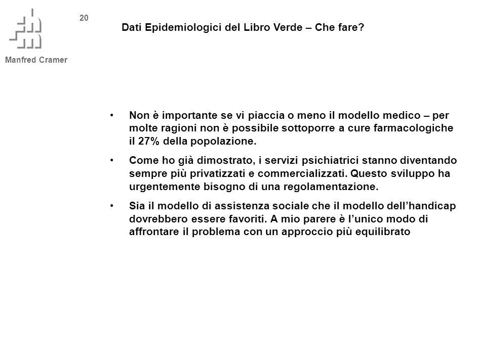 Manfred Cramer 20 Dati Epidemiologici del Libro Verde – Che fare.