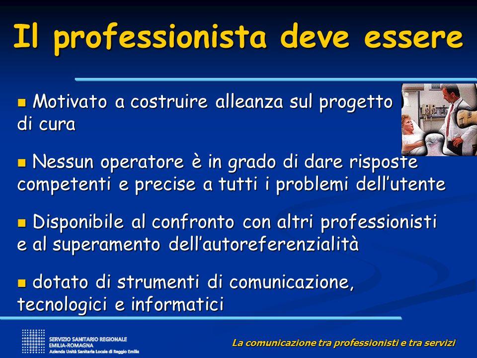 La comunicazione tra professionisti e tra servizi Quali strumenti a disposizione.