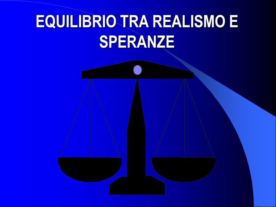 EQUILIBRIO TRA REALISMO E SPERANZE