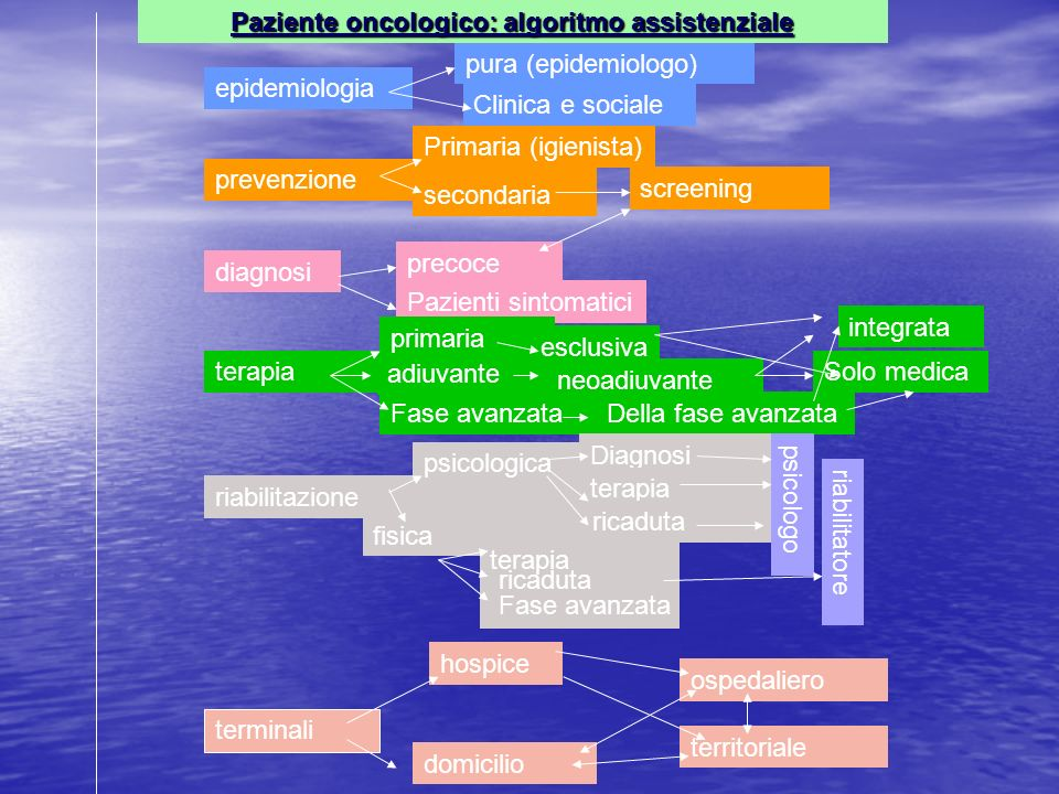 secondaria epidemiologia prevenzione diagnosi terapia riabilitazione terminali pura (epidemiologo) Clinica e sociale Primaria (igienista) screening pr