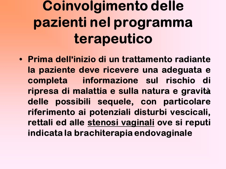 Neoplasie ginecologiche di interesse radioterapico Corpo uterino Cervice uterina