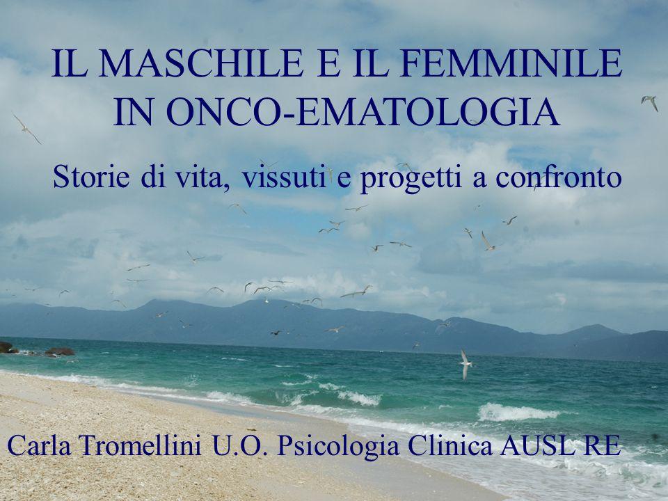 IL MASCHILE E IL FEMMINILE IN ONCO-EMATOLOGIA Storie di vita, vissuti e progetti a confronto Carla Tromellini U.O. Psicologia Clinica AUSL RE