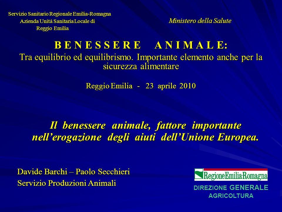 PAC – BENESSERE ANIMALE – MISURA N.