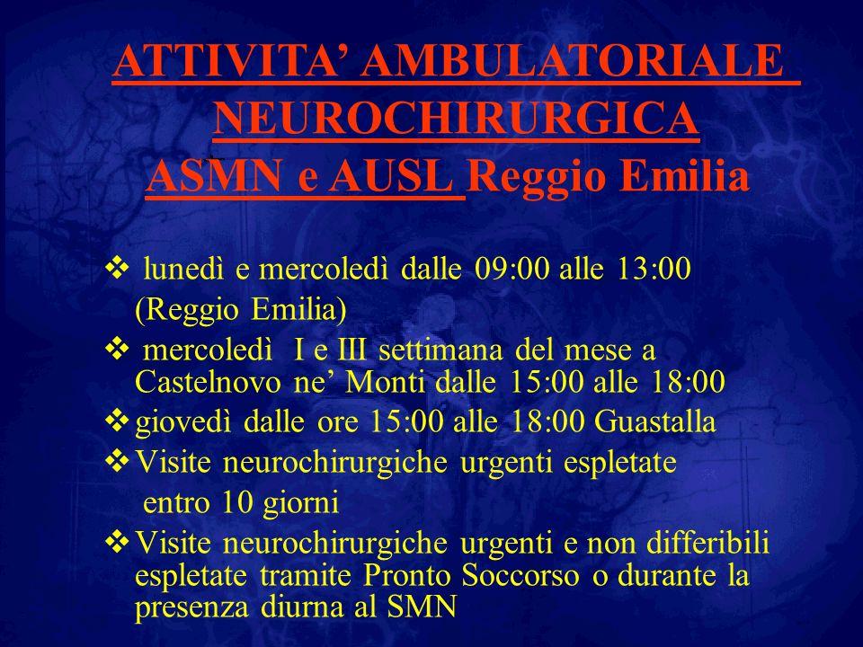 lunedì e mercoledì dalle 09:00 alle 13:00 (Reggio Emilia) mercoledì I e III settimana del mese a Castelnovo ne Monti dalle 15:00 alle 18:00 giovedì da