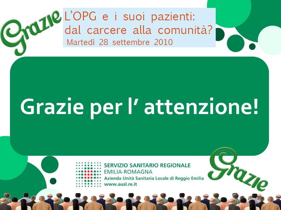 LOPG di Reggio Emilia dopo il passaggio delle competenze sanitarie allAUSL Dr.ssa Mariella Martini Direttore Generale – Ausl di Reggio Emilia Grazie per l attenzione!