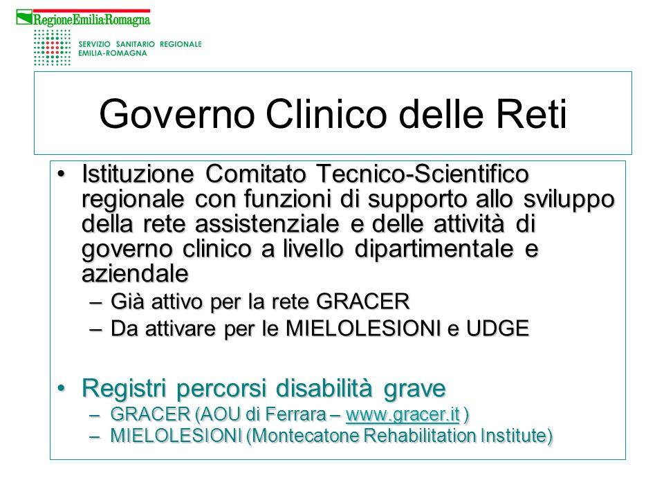 Istituzione Comitato Tecnico-Scientifico regionale con funzioni di supporto allo sviluppo della rete assistenziale e delle attività di governo clinico