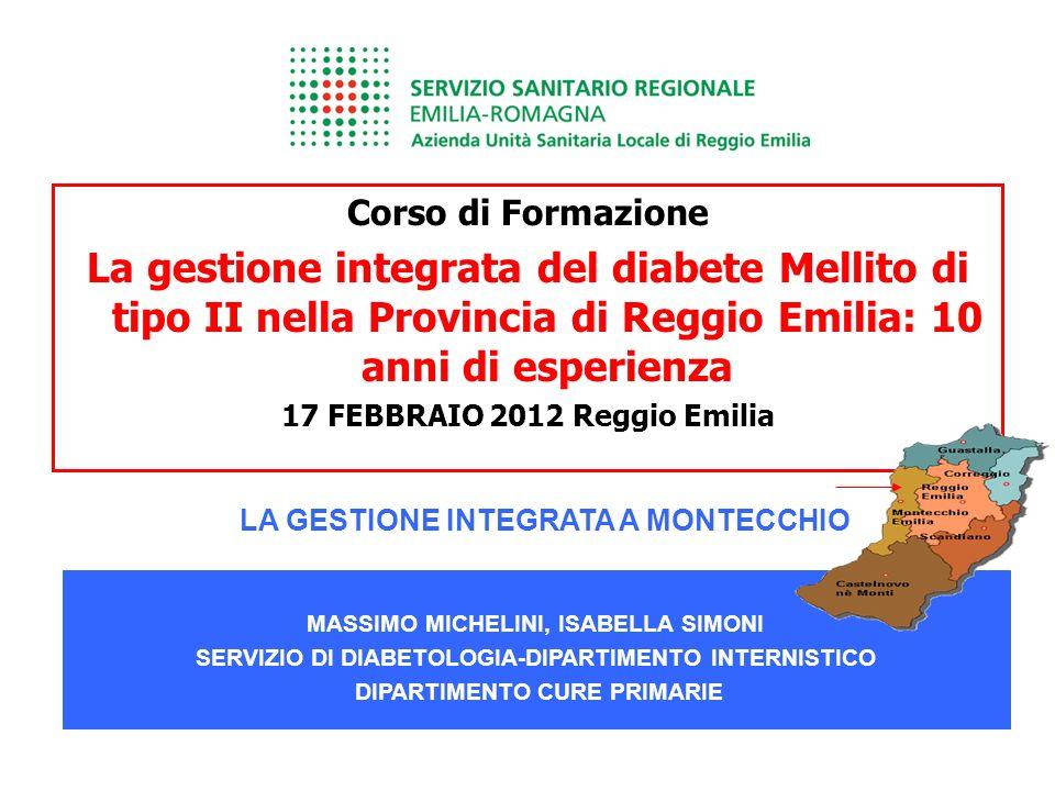 Corso di Formazione La gestione integrata del diabete Mellito di tipo II nella Provincia di Reggio Emilia: 10 anni di esperienza 17 FEBBRAIO 2012 Regg