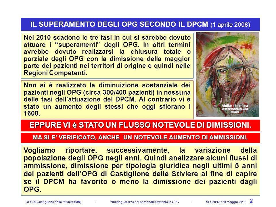 Psichiatria e Giustizia OPG Castiglione delle Stiviere - CONVEGNO DSM MANTOVA la salute mentale della persona è al centro? - Mantova, 24 giugno 2010 2
