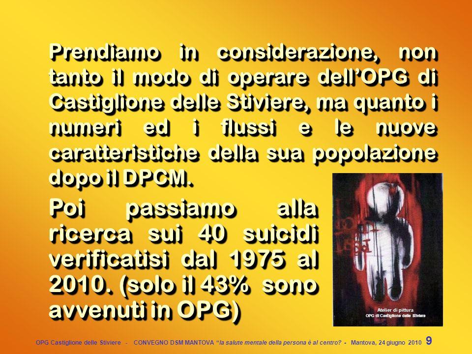 OPG Castiglione delle Stiviere - CONVEGNO DSM MANTOVA la salute mentale della persona è al centro? - Mantova, 24 giugno 2010 39