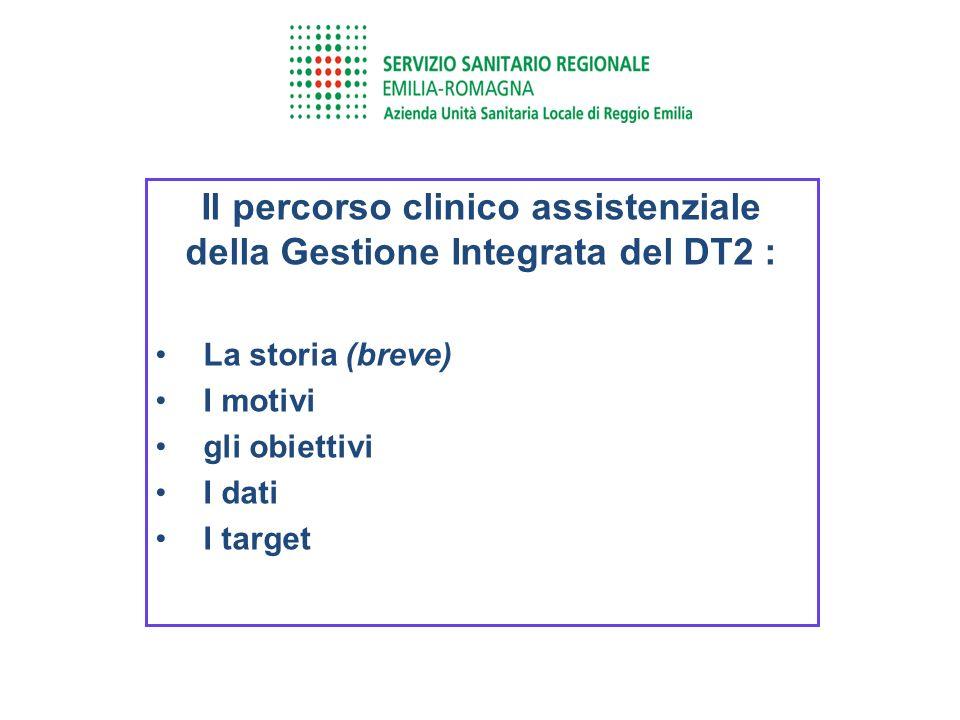 Il percorso clinico assistenziale della Gestione Integrata del DT2 : La storia (breve) I motivi gli obiettivi I dati I target