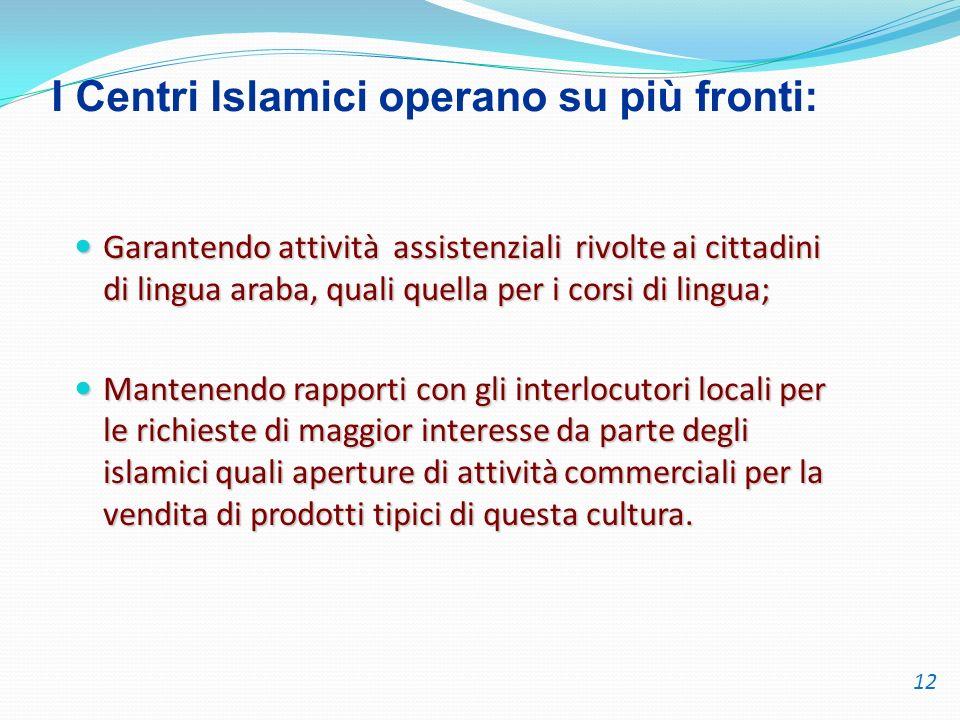 Garantendo attività assistenziali rivolte ai cittadini di lingua araba, quali quella per i corsi di lingua; Garantendo attività assistenziali rivolte
