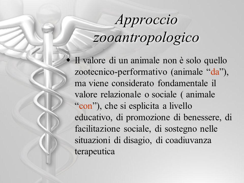 Il valore di un animale non è solo quello zootecnico-performativo (animale da), ma viene considerato fondamentale il valore relazionale o sociale ( an