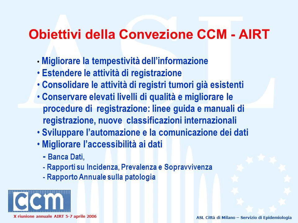 ASL Città di Milano – Servizio di Epidemiologia X riunione annuale AIRT 5-7 aprile 2006