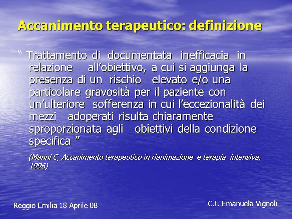 Reggio Emilia 18 Aprile 08 C.I.Emanuela Vignoli Quale stima del benessere del paziente.