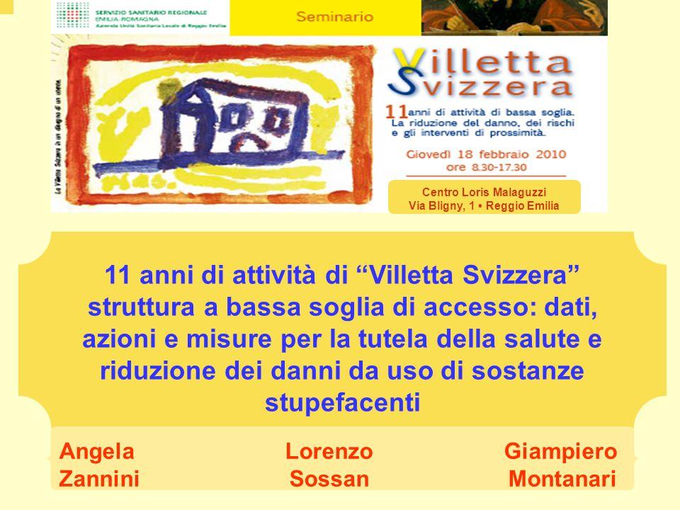 11 anni di attività di Villetta Svizzera struttura a bassa soglia di accesso: dati, azioni e misure per la tutela della salute e riduzione dei danni d