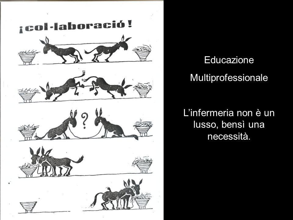 . Educazione Multiprofessionale Linfermeria non è un lusso, bensì una necessità.