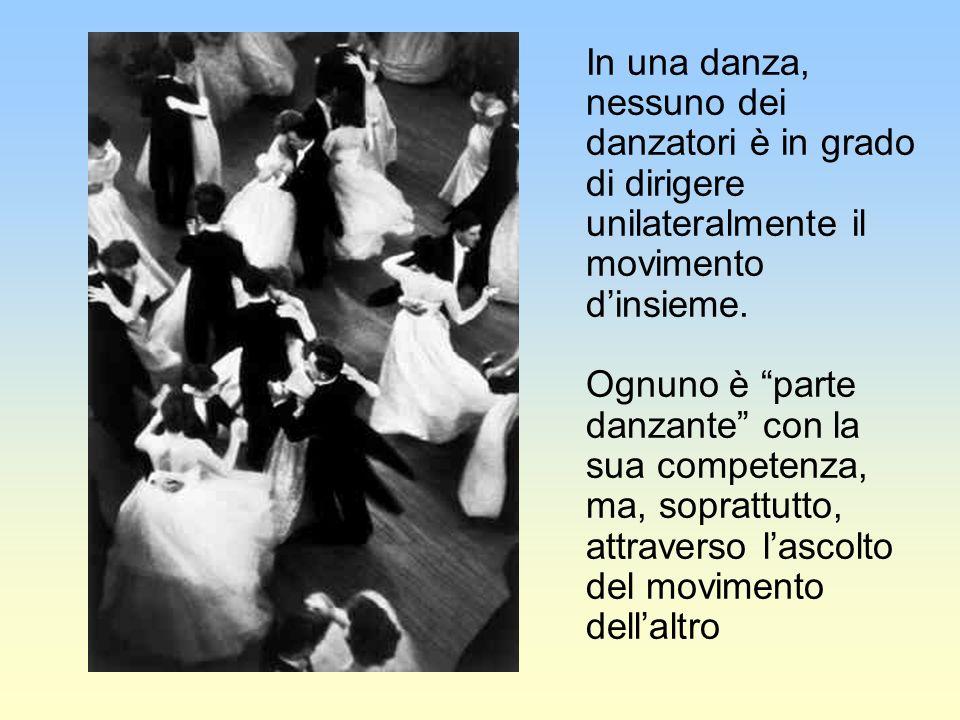 In una danza, nessuno dei danzatori è in grado di dirigere unilateralmente il movimento dinsieme.