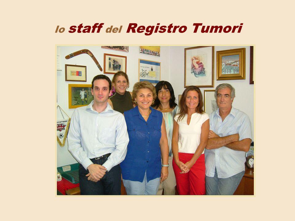 lo staff del Registro Tumori