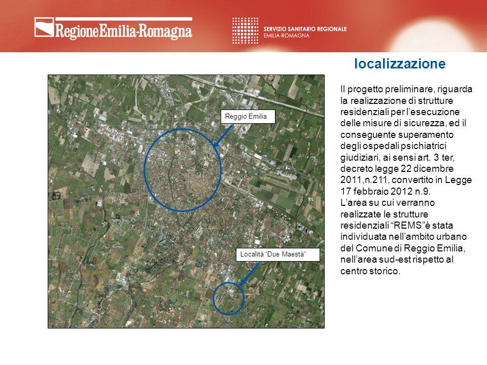 Il progetto preliminare, riguarda la realizzazione di strutture residenziali per lesecuzione delle misure di sicurezza, ed il conseguente superamento